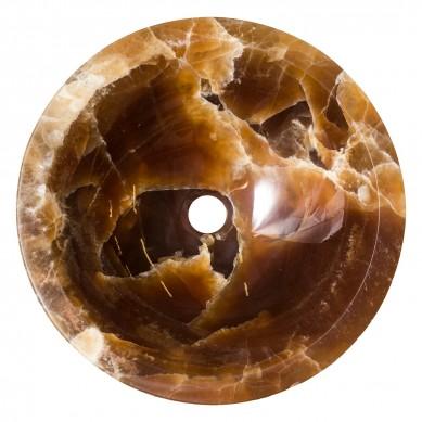 Witkoria - Aufsatzwaschbecken aus Onyx