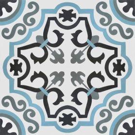 Navas - blaue Zementfliesen