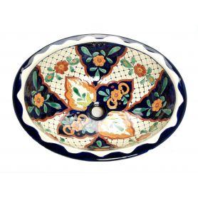 Danita - Buntes handbemaltes Waschbecken aus Keramik