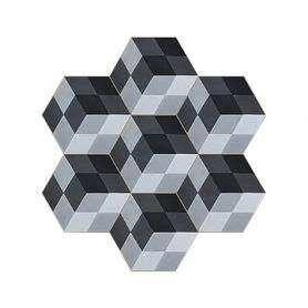Henrik - Hexagonal Zement Bodenfliesen