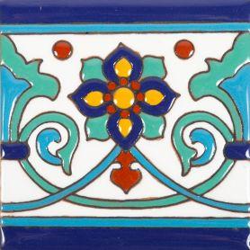 Muse - Mexikanische handbemalte Relief Fliesen - 30 Stück