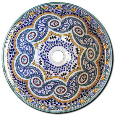 Osuna - handbemaltes marokkanisches Waschbecken