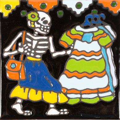 Catrina 6 – Mexikanische Talavera Fliesen