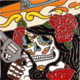 Bandida - Catrina-Serie - mexikanische Talavera Fliesen