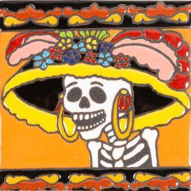 Primera Dama - Catrina-Serie - mexikanische Talavera Fliesen