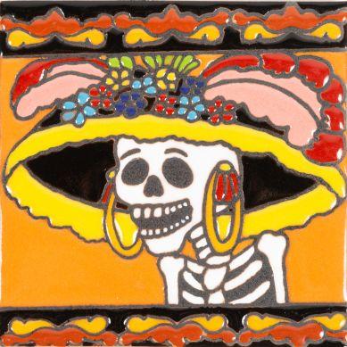 Primera Dama - mexikanische Talavera Fliesen - ein Stück