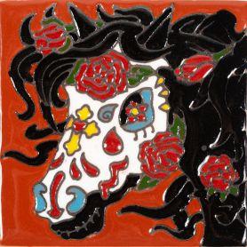 Yegua - Seria Catrina - mexikanische Dekorfliesen mit Relief