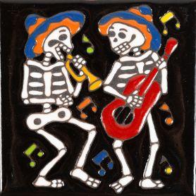 Orquesta - Catrina-Serie - mexikanische dekorfliesen mit relief