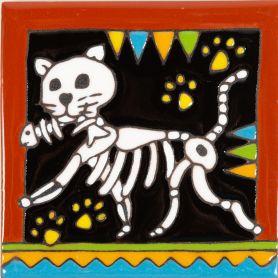Cazador - Catrina-Serie - mexikanische Talavera Fliesen - ein Stück