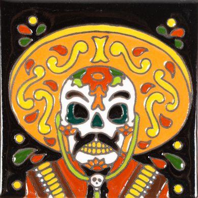Admirador - Catrina-Serie – mexikanische Dekorfliesen mit Relief Maestra