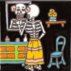 Espejo - Catrina-Serie - mexikanische Talavera Fliesen - ein Stück