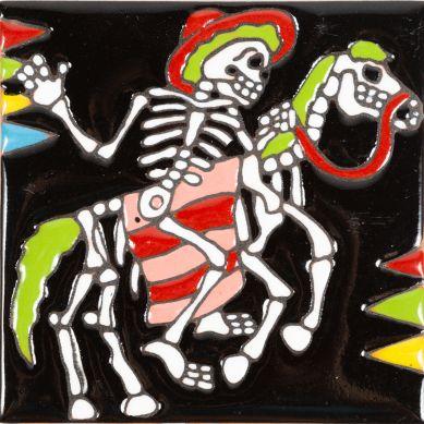 Bandido - Catrina-Serie - Fliesen aus Mexiko - ein Stück