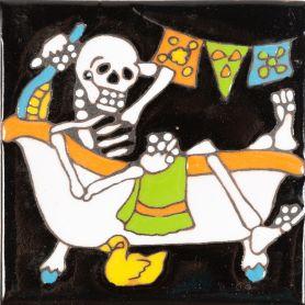 Baño - Catrina-Serie - mexikanische Talavera Fliesen - ein Stück