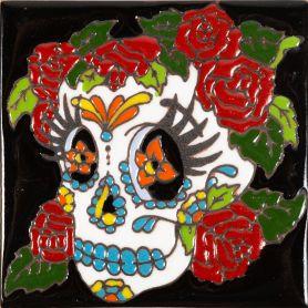 Mujer - Catrina-Serie - mexikanische Talavera Fliesen - ein Stück
