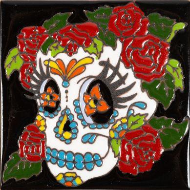 Mujer Catrina-Serie - mexikanische Talavera Fliesen - ein Stück