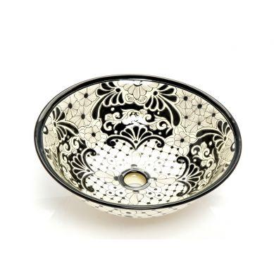 Mexikanisches Keramik Waschbecken In Schwarz Serena Light