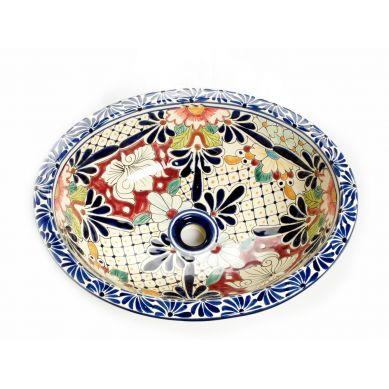 Jacinta - Mexikanisches ovales großes Einbauwaschbecken