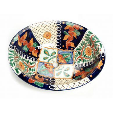 Dionis - Buntes handbemaltes Waschbecken aus Keramik