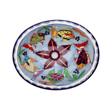 Delmar - Ovales mexikanisches Waschbecken