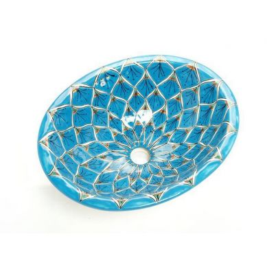 Aqua Azul - Ovales Waschbecken aus Mexiko