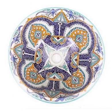 Gerena - handbemaltes marokkanisches Waschbecken