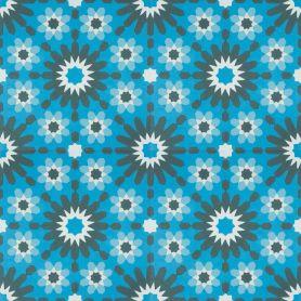 Blanc - Blaue Zementbodenfliesen