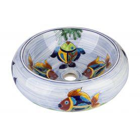Alejandra - Blaues mexikanisches Keramikbecken