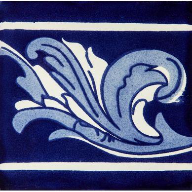 Cenefa Asturias - Talavera Cobalt Fliesen 15 x 15 - 22 Stück