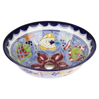 Delmar - Mexikanisches Waschbecken aus Keramik