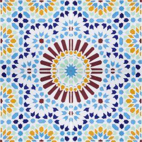 Baha - Keramikfliesen aus Marokko 20x20cm, einschließlich 12 Fliesen (0,5m2)