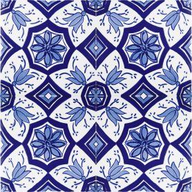 Aida - blau-weiße Keramikfliesen 20x20cm, einschließlich 12 Fliesen (0,5m2)