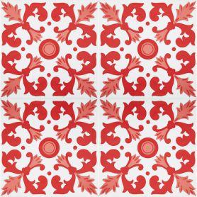Batul - rote Fliesen aus Tunesien 20x20cm, einschließlich 12 Fliesen (0,5m2)