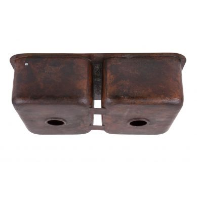 Paco - Küchenspüle Doppelbecken aus Kupfer