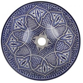 Fatima - Buntes marokkanisches Waschbecken