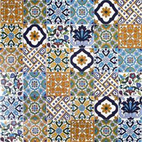 Wati - dekoratives Patchwork aus Tunesien 10 x 10 cm, 50 Fliesen in der Schachtel (0,5m2)