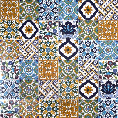 Wati - dekoratives Patchwork aus Tunesien 10 x 10 cm
