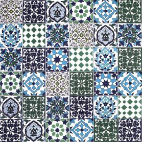 Muhit - dekoratives Patchwork aus Tunesien 10 x 10 cm, 50 Fliesen in der Schachtel (0,5m2)