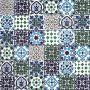 Muhit - dekoratives Patchwork aus Tunesien 10 x 10 cm