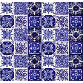 Toño - Blaues Talavera Keramikfliesen - 30 stück