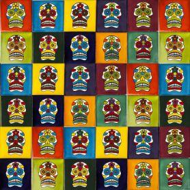 Calaveras - Pop-art Talavera Fliesen - 30 Stück