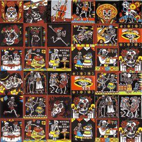 Catrina mix - Mexikanische Fliesen mit Tod - 30 Fliesen