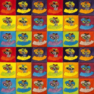 Catrinas - Talavera Pop-Art-Fliesen - 30 Stück