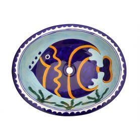 Pesca - Türkises großes Handwaschbecken