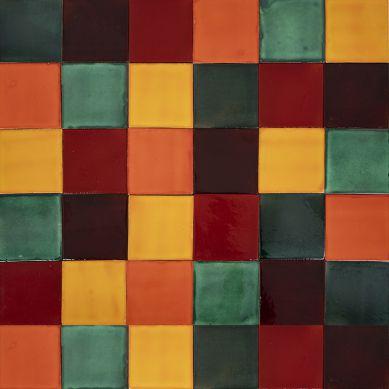 Borgońa - patchwork aus einfarbigen Fliesen - 90 Stück, 1 m2