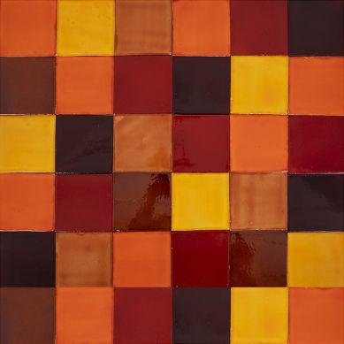 Caramelo - Patchwork aus einfarbigen Fliesen - 90 Stück, 1 m2