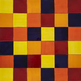 Intenso - Patchwork aus einfarbigen Fliesen - 90 Stück, 1 m2