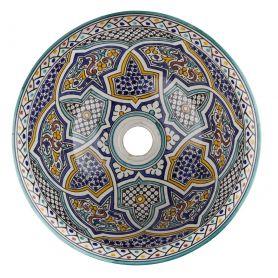 Mikhat - Buntes marokkanisches Waschbecken