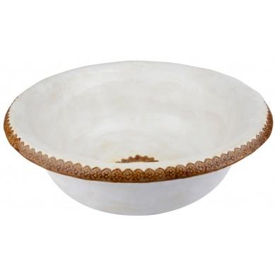 Kinga - Handgemachtes weißes Becken