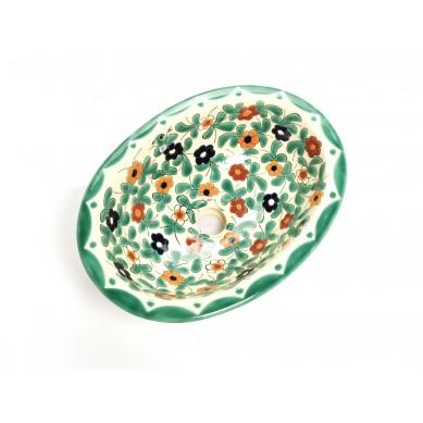 Dona - Buntes ovales mexikanisches Waschbecken