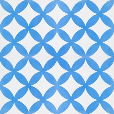 Alim - Blau-Weiße Zementfliesen